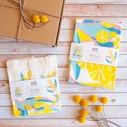 Earth Greetings Claire Ishino Wattle Walk screen printed tea towels Australia vegan organic cotton tea towels