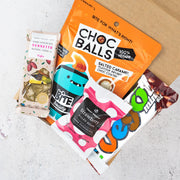 Vegan chocolate hamper with vegan maltesers, Vegan Chocolate bar, and a vegan chocolate block coffee flavour, vego bar, treat dreams vegan chocolate bears
