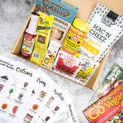 Vegan Starter Kit contents for Veganuary Australia - vegan snack box for help going vegan!