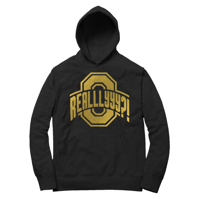 OH REALLLYYY GOLD HOODIE (BLACK)