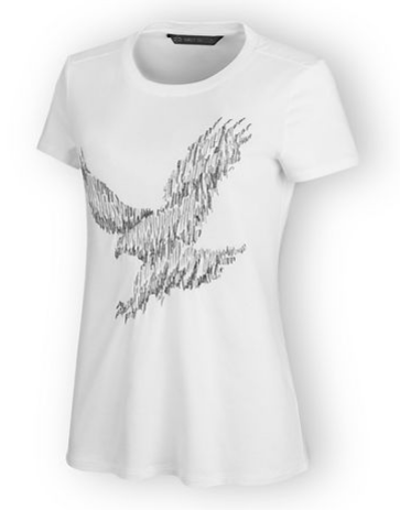 Women's Metallic Embroidered Tee