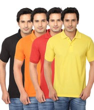 Load image into Gallery viewer, Pack Of 4 Men's Cotton Polo-T Shirt