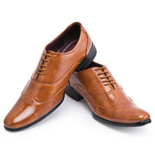 Load image into Gallery viewer, Tan Synthetic Solid Formal Shoes