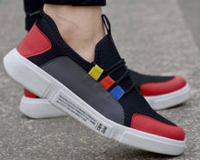 Load image into Gallery viewer, Comfy Multicoloured Self Design Mesh Sports Shoes