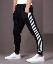 Load image into Gallery viewer, Black Polyester Blend Joggers