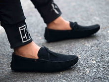 Load image into Gallery viewer, Men's Stylish Black Suede Solid Casual Loafers