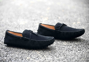 Men's Stylish Black Suede Solid Casual Loafers