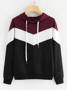 Black And White With Maroon ZigZag Strip Sweat Shirt