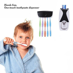 Automatic Toothpaste Dispenser with Tooth Brush Holder for Home and Bathroom Accessories