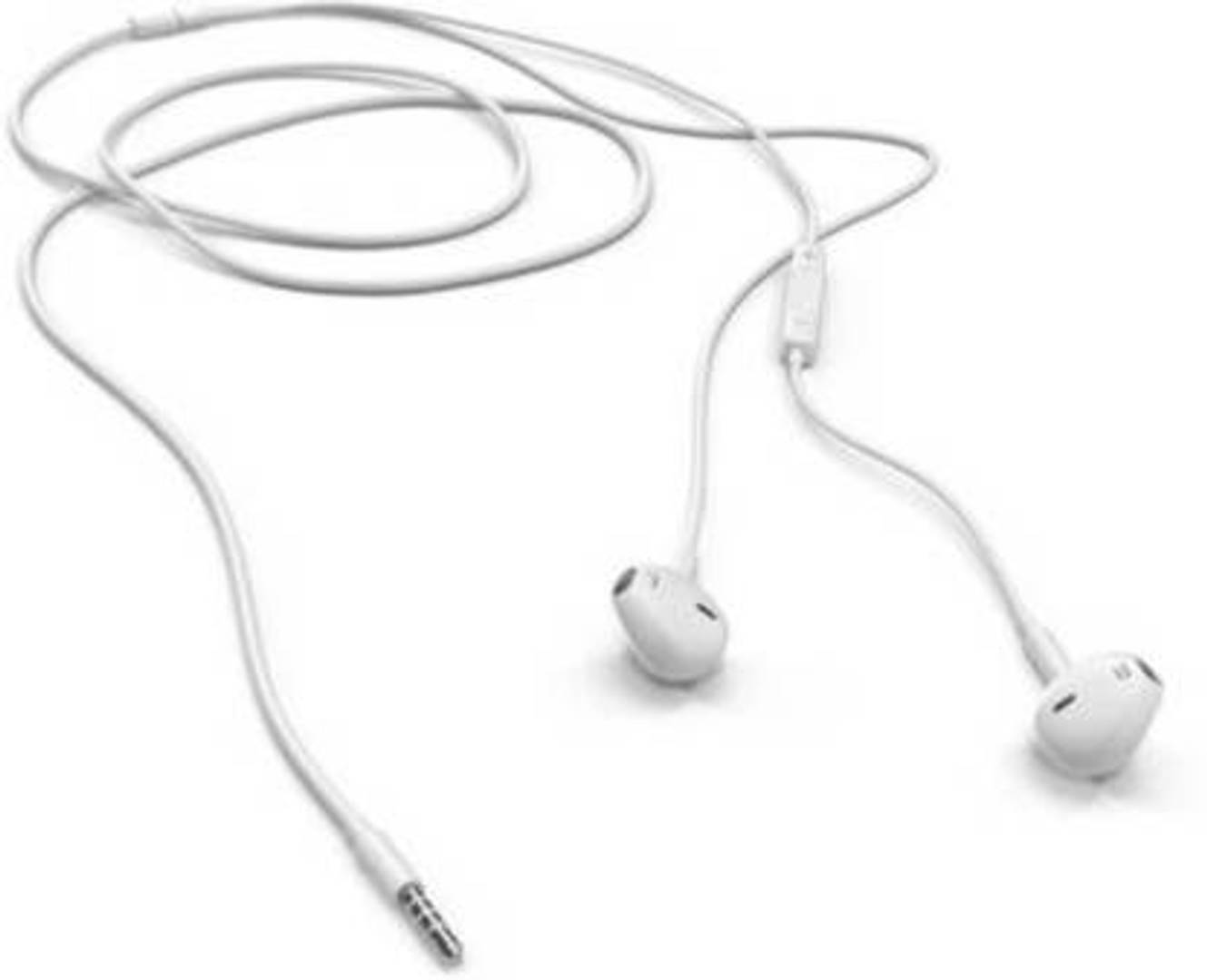 Stylish White High Bass in-ear Wired Headset with Mic