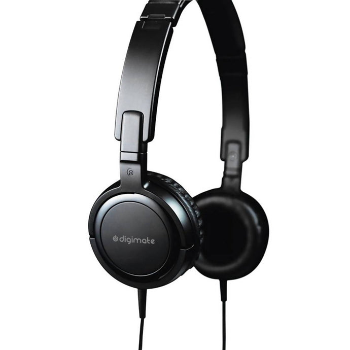 Essential Black Digimate Extra Bass Tempo Wired Over Headphone