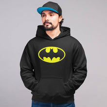Load image into Gallery viewer, Batman premium cotton black hoodie