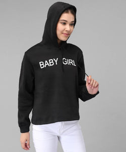 Black Baby Girl Print Sweat Shirt