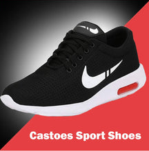 Load image into Gallery viewer, Elegant Black Mesh Solid Sports Shoes For Men