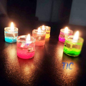 Gel Candles for Diwali-Pack of 6