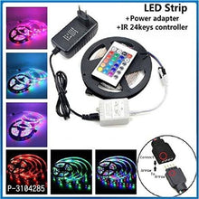 Load image into Gallery viewer, RGB Remote Control Plastic LED Strip Light Colour Changing For Diwali & Christmas Lighting 5 Mtr ( Multicoloured)