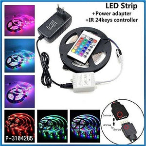 RGB Remote Control Plastic LED Strip Light Colour Changing For Diwali & Christmas Lighting 5 Mtr ( Multicoloured)