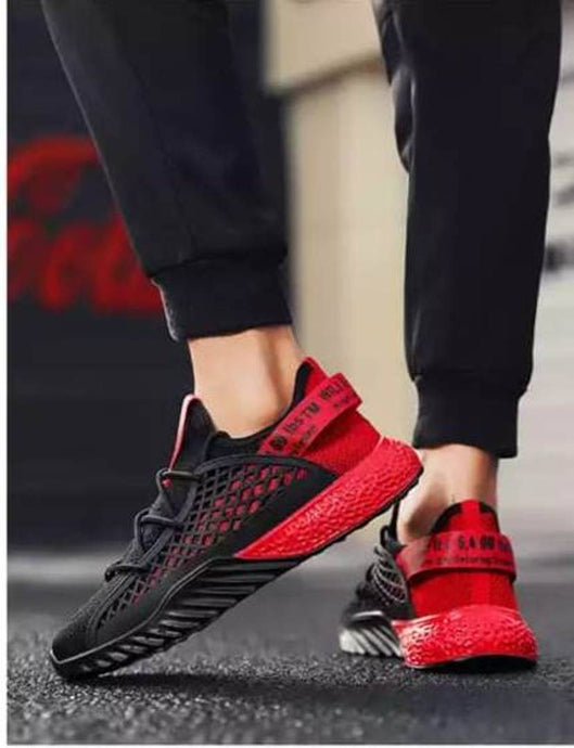 Men's Black Mesh Walking Breathable Comfy Sports Sneakers