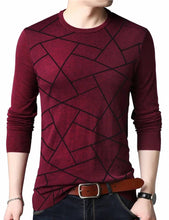 Load image into Gallery viewer, Men's Maroon Polycotton Printed Round Neck Tees