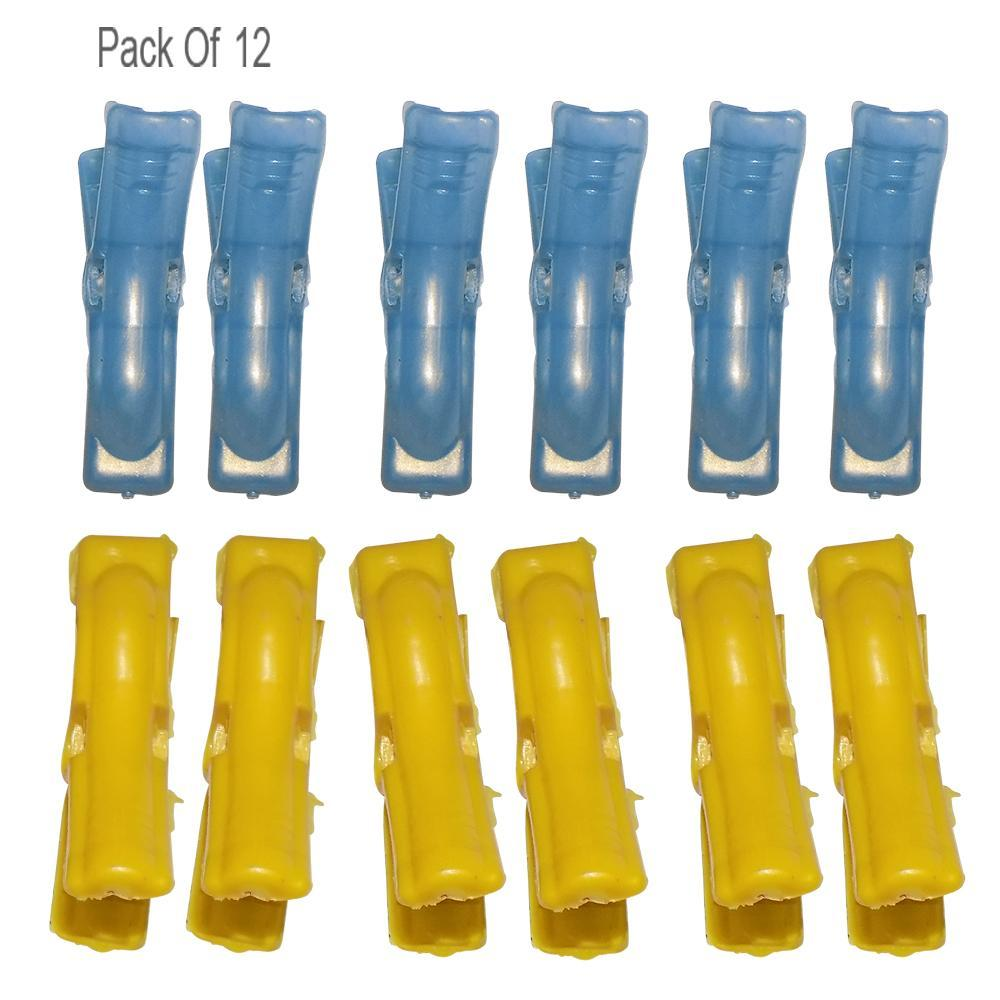 Multipurpose Plastic Clothes Pegs / Hanging Clips / Cloth Drying Clips - 12 pcs (Round)