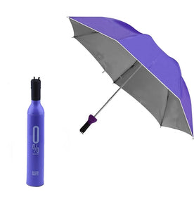 POCKET FOLDING WINE BOTTLE UMBRELLA