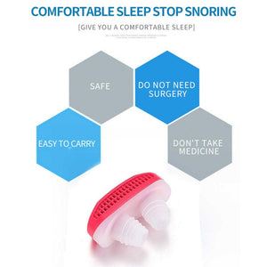 353 - 2 in 1 Anti Snoring and Air Purifier Nose Clip for Prevent Snoring and Comfortable Sleep