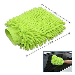 711 double sided microfiber hand glove duster