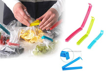 Load image into Gallery viewer, 105 Plastic Snack Bag Clip Sealer Set (18 Pcs, Multicolour)