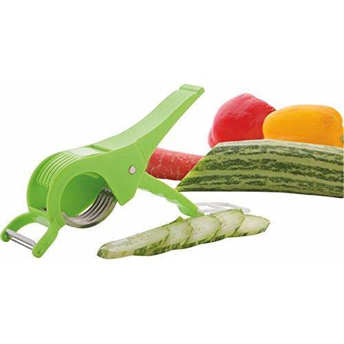 Plastic Vegetable Cutter with Peeler, Set of 2, Multicolour