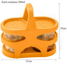 Load image into Gallery viewer, 170 Lunch Box (200 ml each Container) with Attractive Stand - 4 pcs