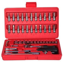 Load image into Gallery viewer, 422 Socket 1/4 Inch Combination Repair Tool Kit (Red, 46 pcs)
