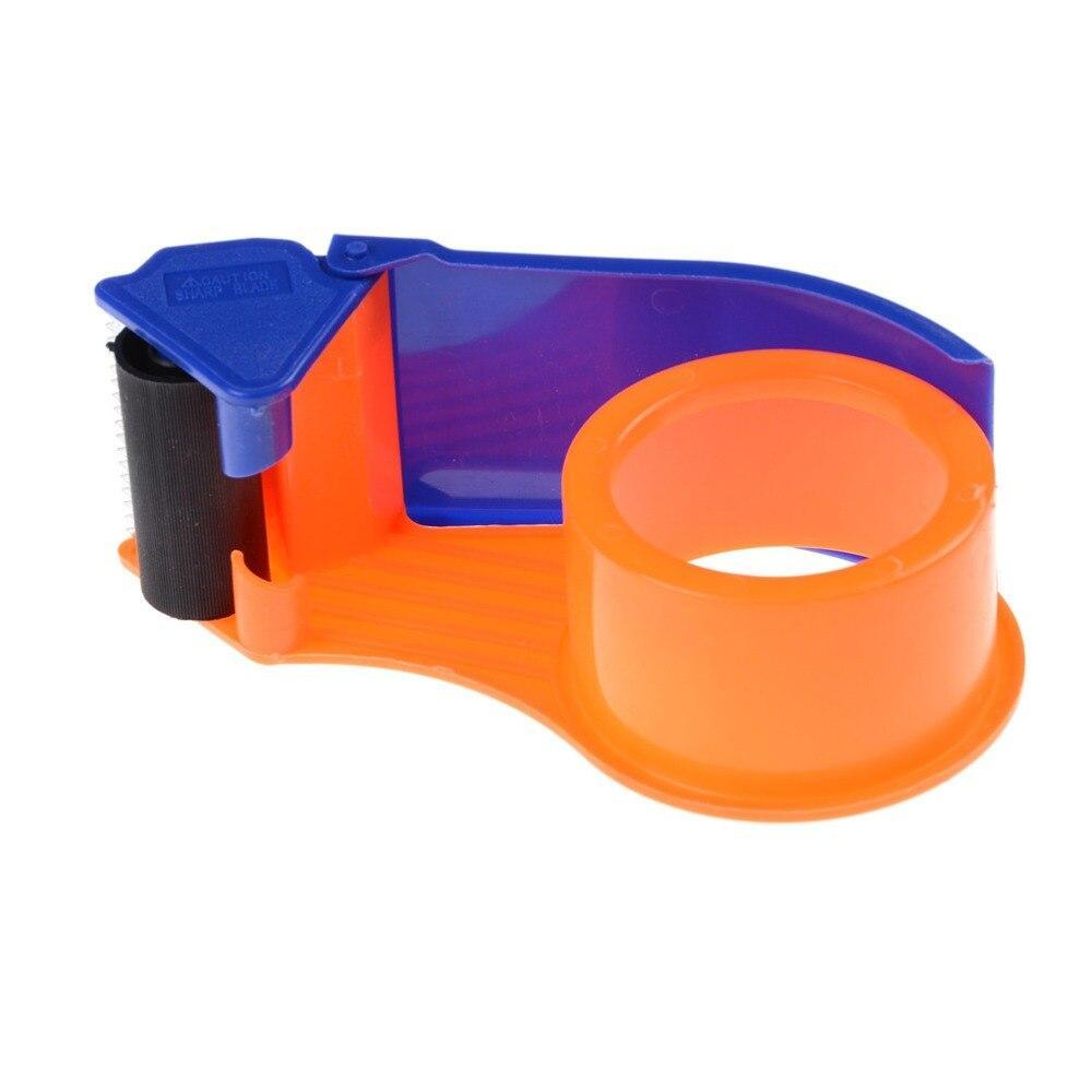 456 2 Inch Plastic Handy Packaging Tape Dispenser, Packaging Tape Cutter Machine, Packaging Boxes Roll Roller Cutter Parcel Cartoon Sealer, Packing Tool
