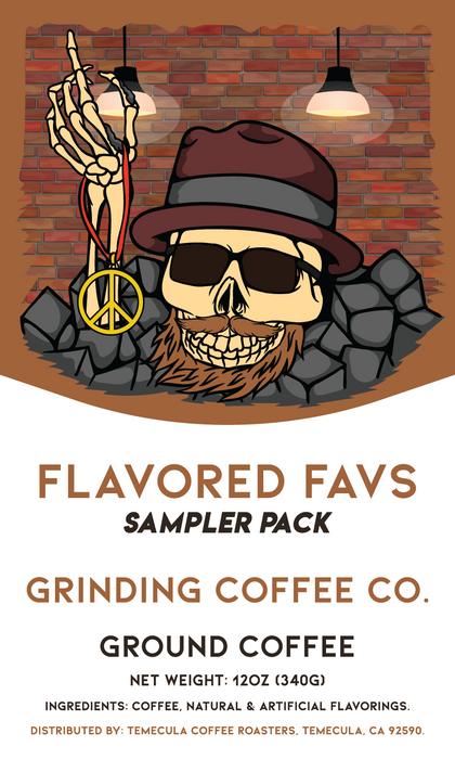 Flavored Favs Sampler Pack - Grinding Coffee Co.