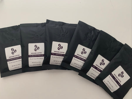Best Sellers Samples: 6Bean, Cowboy, Breakfast, Peru, Mexico, Bali - Grinding Coffee Co.