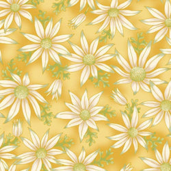 Leesa Chandler: Under The Aussie Sun 'Flannel Flowers' Gold 0015 17: Cut to Order by the 1/2m