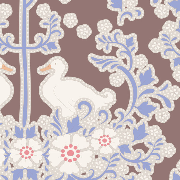 Tilda 100188 Duck Nest Nutmeg Fabric | Natasha Makes