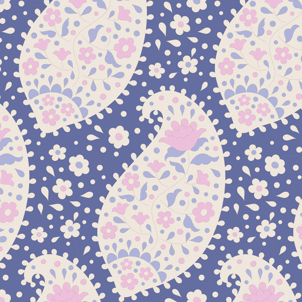 Tilda 100191 Teardrop Blueberry Fabric | Natasha Makes