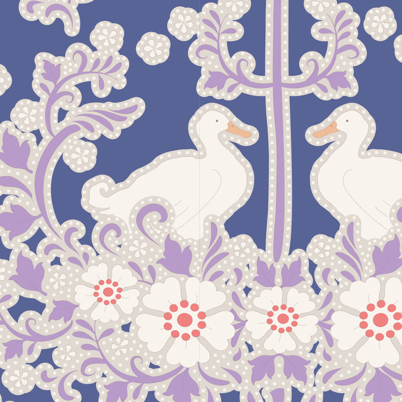 Tilda 100193 Duck Nest Blueberry Fabric | Natasha Makes