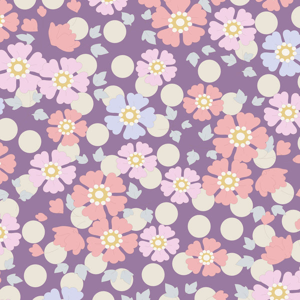 Tilda 100200 Windflower Lavender Fabric | Natasha Makes