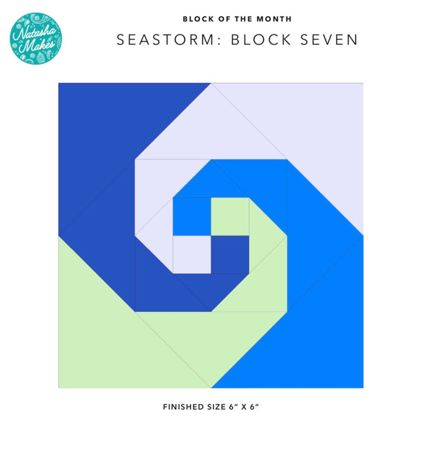 Seastorm Block of the Month - Block Seven Instructions