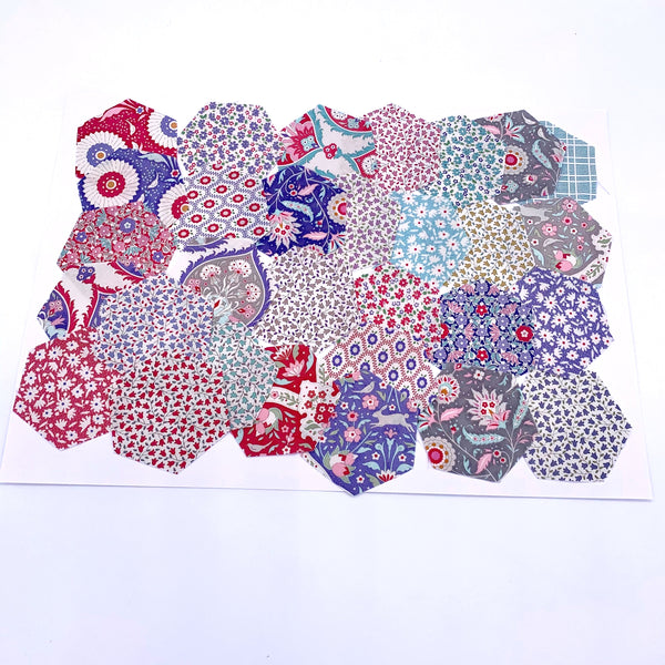 "1.5"" Pre-cut Hexagons for English Paper Piecing: Tilda Bon Voyage Collection Precuts 