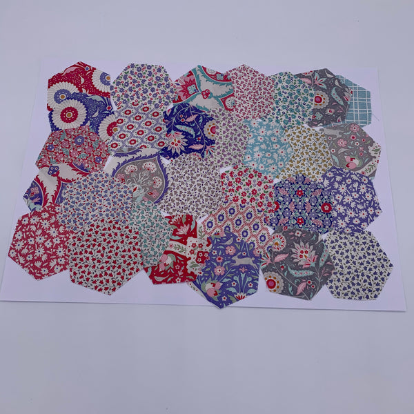 "2.5"" Pre-cut Hexagons for English Paper Piecing: Tilda Bon Voyage Collection Precuts 