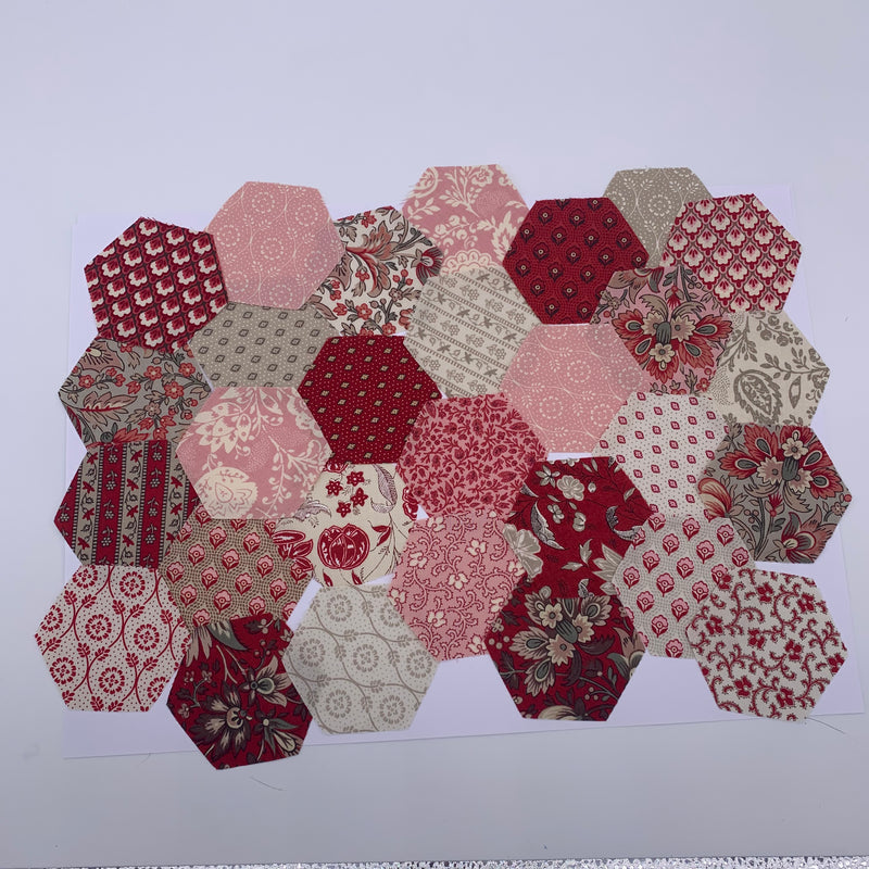"2.5"" Pre-cut Hexagons for English Paper Piecing: Chafarcani Collection Precuts 