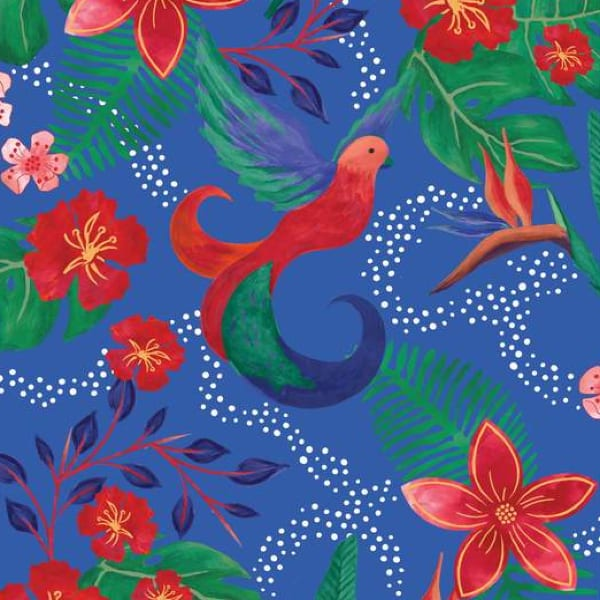 Sarah Payne: 'Birds of Paradise' Fat Quarter Bundle: Blue