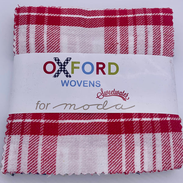 "5"" Charm Pack: Moda Oxford Wovens Precuts 