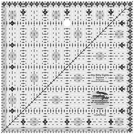 Creative Grids Itty-Bitty Eights Square Ruler 6in x 6in - CGRPRG2