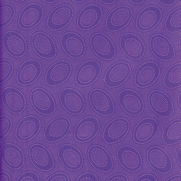 Kaffe Fassett Collective: 'Aboriginal Dot' Plum: Cut to Order by the 1/2m