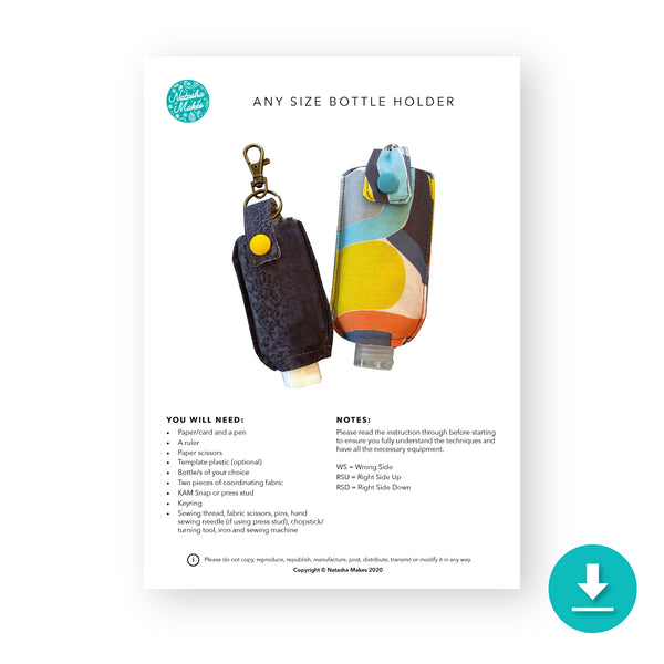Any Size Bottle Holder - Digital Instructions