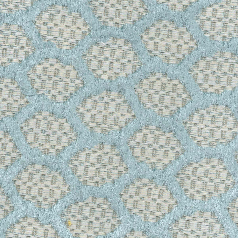 BLUE HONEYCOMBE Upholstery Fabric | Natasha Makes