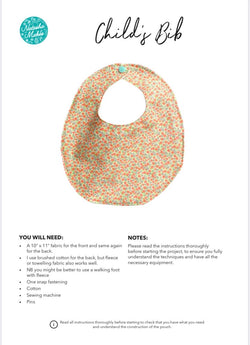 Child's Bib INSTRUCTIONS
